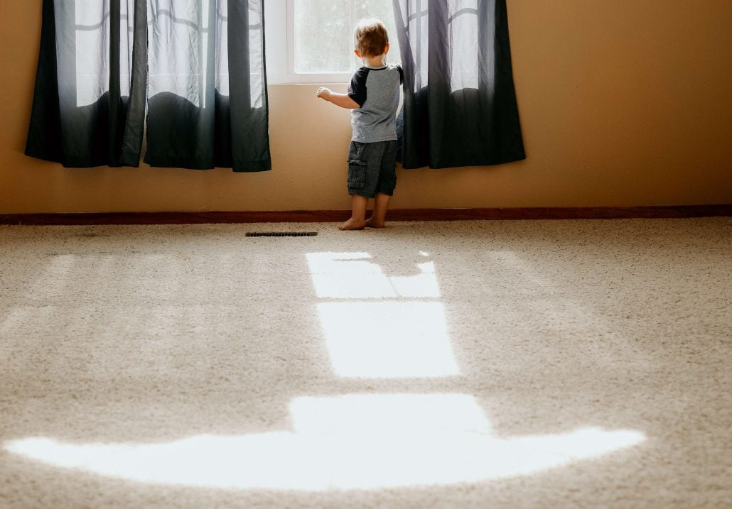 green cleaning carpet and deodorize