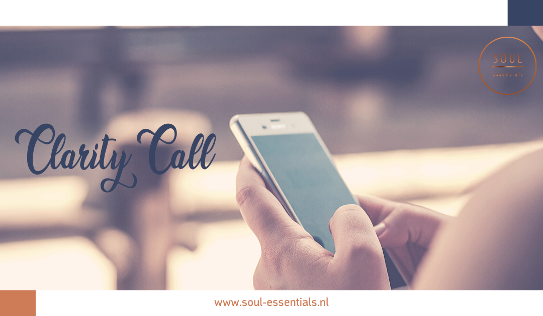 3 Reasons Why You Should Hop On A Free Clarity Call With Me Today.